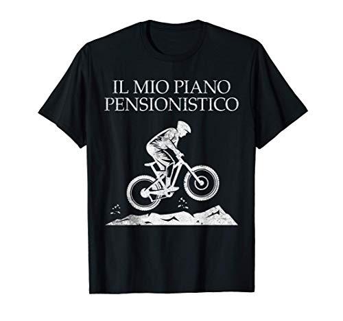 Pensionato Mountain Bike Ciclista MTB Divertente Pensione Maglietta