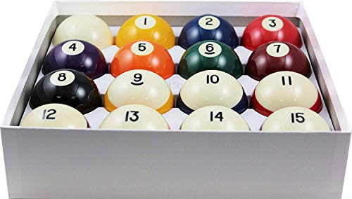 Aramith 2-1/4' Regulation Size Crown Standard Billiard/Pool Balls, Complete 16 Ball Set