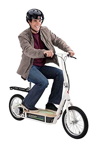 EcoSmart Metro Electric Scooter – Padded Seat, Wide Bamboo Deck, 16'...