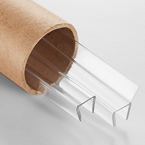 Serene Valley Shower Door Side Seal Strip for 3/8' Door Glass, Super Clear and Strong Material for Various Applications - 78' Strips, 2pcs
