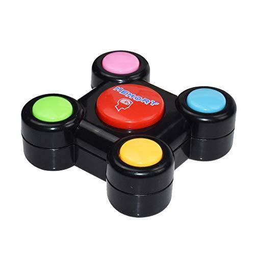Luccase Kreativitäts Pädagogisches Gedächtnisspiel mit Lichtern Tönen Toy Quiz Game Bunte ABS Kunststoff Memory Lernspielzeug für Kleinkinder (B)