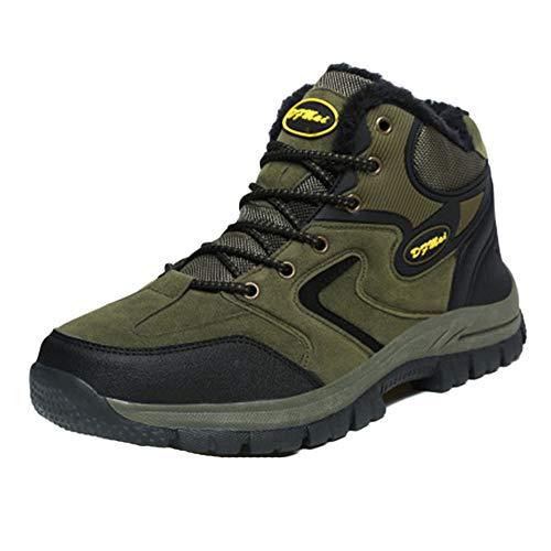 Impermeable Y Transpirable Botas De Montaña Zapatos Deslizamiento Resistente Al Desgaste para Unisex Enviar Calcetines Verde del Ejército 48 EU