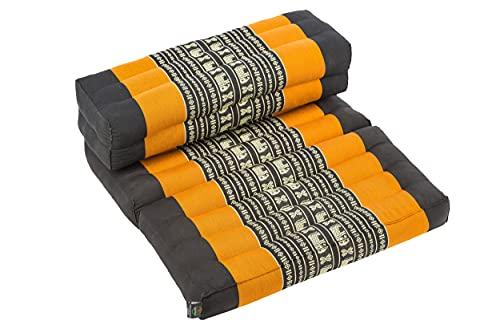 Cuscino da meditazione pieghevole, supporto ideale per diverse posizioni e tecniche di meditazione, come zafu e zabuton, adatto ai principianti, con imbottitura in kapok arancione