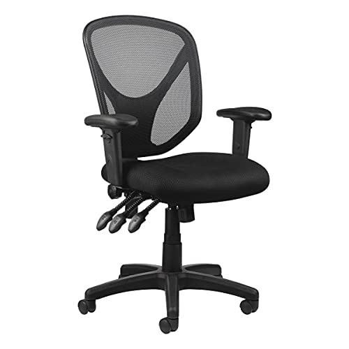 Realspace MFTC 200 Multifunction Ergonomic Super Task Chair, Black