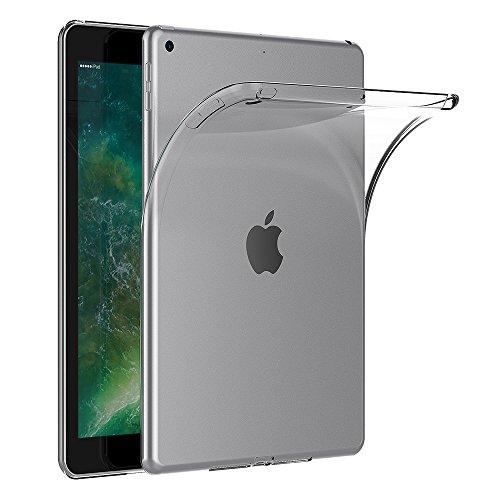 AICEK Cover iPad 9.7 2017, Trasparente Silicone Cover per iPad 9.7 2017 Custodia iPad 2017 (9.7 Pollici) Silicone Cover Case