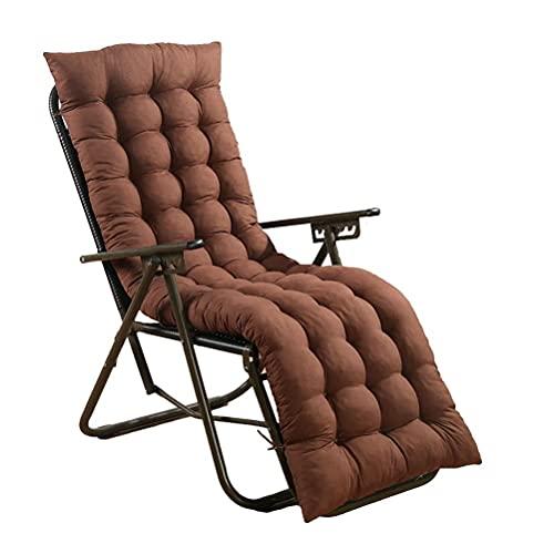 AMYZ Patio Lounge Chair Cuscino Seduta per Panca da Giardino Altalena Texture Pattern Vimini con Copertura Fissa Cinghia Imbottiture Lunghe Senza Sedia,Marrone,150x48cm