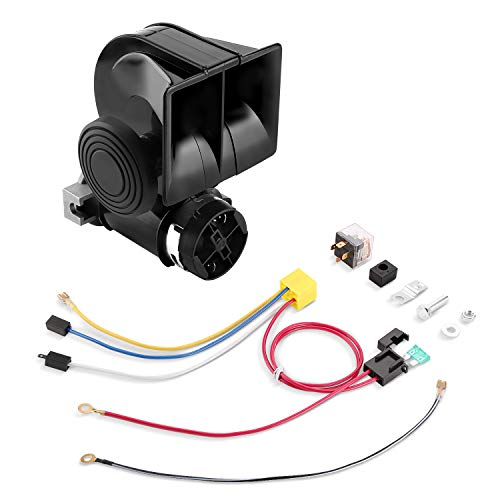 HK Train Air Horn with Compressor, 12V 150DB Snail Electric Car Horn with Automotive Relay and Wiring Harness for Any 12V Vehicles Trucks Motorcycle