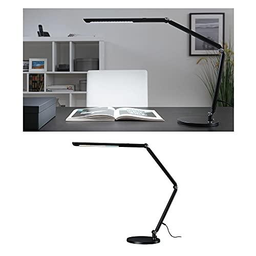 Paulmann 78912 LED Schreibtischleuchte FlexBar White Switch Tunable White incl. 1x10,6 Watt dimmbar Assistenzleuchten Schwarz Tischleuchte 3000 K