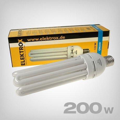 Elektrox Energiesparlampe CFL 6500K Wuchs (200 Watt) Grow ESL Pflanzenlampe Pflanzenlicht (200)