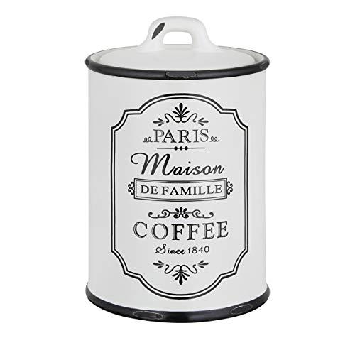 KHG Kaffeedose Vorratsdosen Set shabby chic Keramik Schwarz Weiß Kaffee Luftdicht