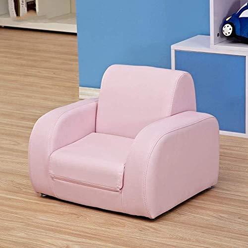 LJYHJ Children armchair, children sofa, cute baby sofa, lazy furniture, oxygen recliner seat,Pink