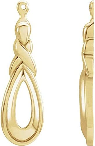 14K Yellow Gold Freeform Earring overseas Limited price Jackets Jacket