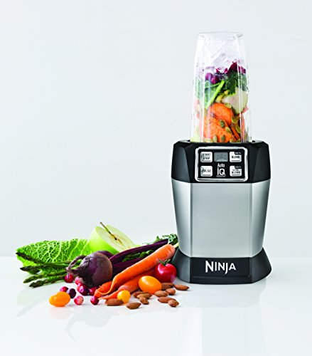 Ninja BL480 Nutri Ninja with 1000 Watt Auto-IQ Base for Juices, Shakes & Smoothies Personal Blender 18 and 24 oz. Black/Silver