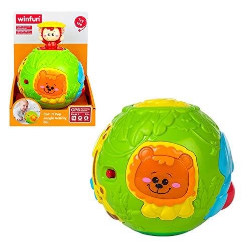 winfun - Bola de animales infantil con luz y sonido (44527) , color/modelo surtido
