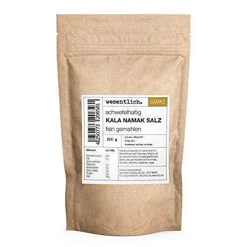 Kala Namak Salz (200g) - fein gemahlen - reines Schwarzsalz - schwefelhaltig