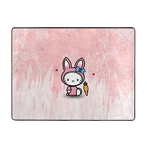 Hello Cartoon Kitty Bagno Tappeti E Tappetini Antiscivolo Assorbente Flanella Bagno Tappeto 100 X 48 IN