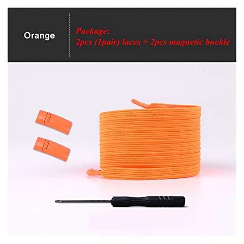 KGDUYH Shoelace - Cordones magnéticos de 24 colores con cierre elástico para hombres y mujeres (color: naranja)