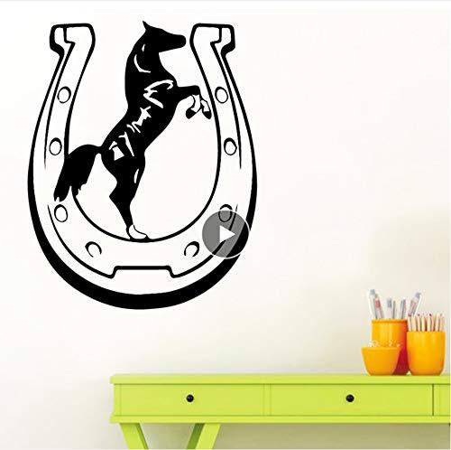Zwyluck Muurtattoo Pretty Horse voor kinderen Decal Creative Stickers 43 x 54 cm