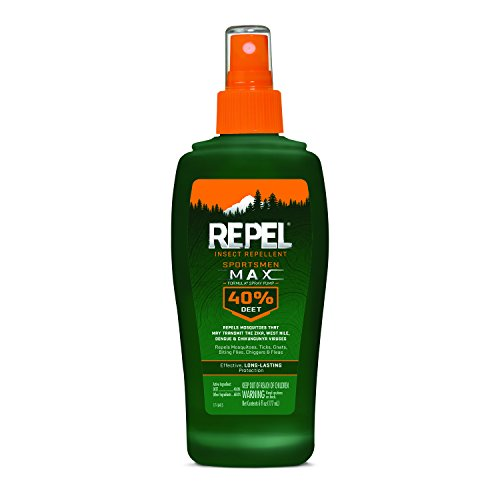 Repel Insect Repellent Sportsmen Max Formula Spray Pump 40% DEET, 6-Ounce, 12-Pack