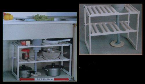 Waschbecken Unterregal Küchenregal Regal Ablage ausziehbar