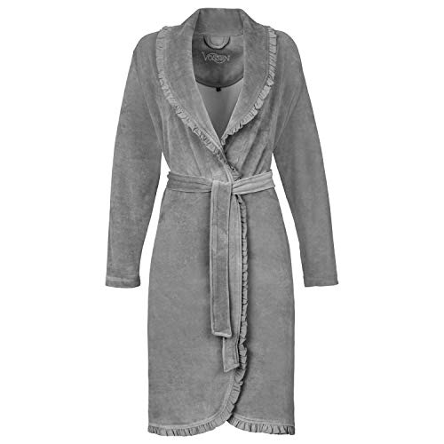 Vossen Ariel Peignoir, Gris (Grau Meliert 738), 38 (Taille Fabricant: 36/38 S) Femme