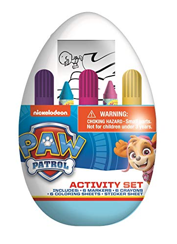 Kids Activity Egg Craft Kit with Coloring Pages, Stickers, Markers, and Crayons (Paw Patrol)