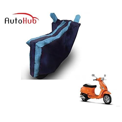 Auto Hub Black Blue Bike Cover for Vespa Vespa SXL