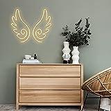 "Vasten Custom Angel Wing neon Sign Warm White 9.37"" x 11.8"" Handmade neon Lighting Gift Office Baby Room Bedroom Game Room, Club"