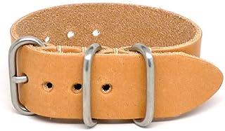 Orologio Da Luca display cinturino Pelle e quadrante nato-one-ltr-ntrl-mtte-22