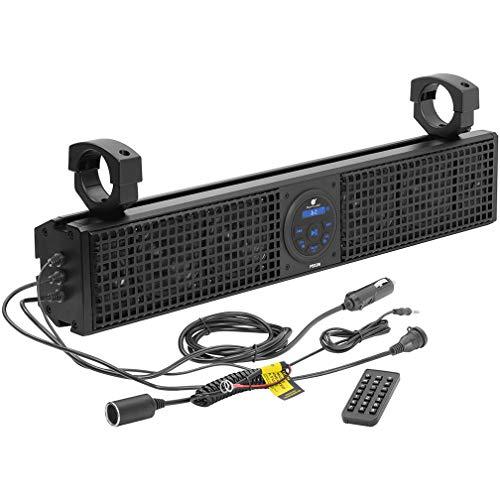 Planet Audio PSX26 ATV UTV Sound Bar System – 26 Inches Wide, IPX5 Weatherproof,...