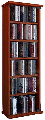 VCM Loposa Estante Mural para 150 CDs, Cerezo, 91,5x31x18 cm