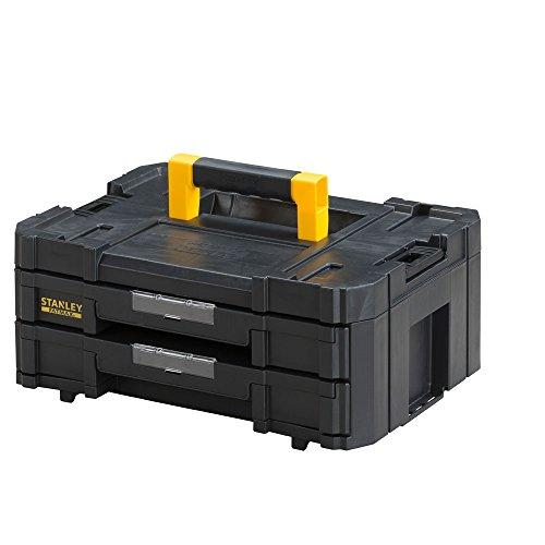 Stanley FatMax gereedschapskoffer TSTAK VI (8L inhoud, met 2 laden en organizers voor kleine onderdelen, met metalen sluitingen, met uitneembare binnendelen) FMST1-71969