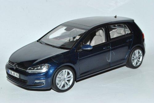Norev Volkwagen Golf VII 7 Blau 5 Türer Ab 2012 1/18 Modell Auto