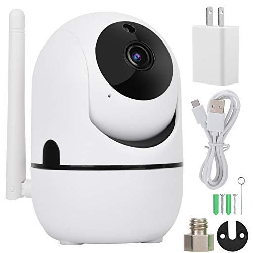 720P/1080P HD Cámara inalámbrica WiFi PTZ Cámara de Seguridad con Seguimiento automático Blanco,IP inalámbrica Pan/Tilt/Zoom Sistema de vigilancia Interior con visión Nocturna.(1080P UE)