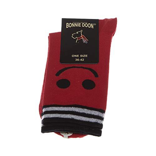 Bonnie Doon Socke mittelhoch - 1 paar - Fußrücken anziehen - Humor - Coton - Rouge - smile sock - 36/42