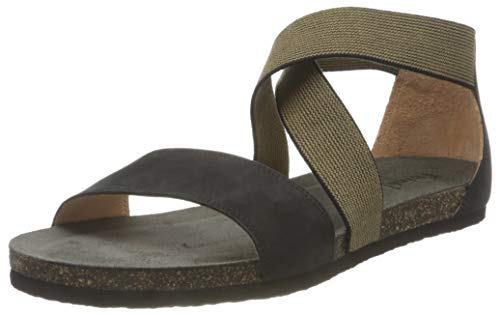 THINK! Damen Shik_3-000213 nachhaltige Riemchen Sandale, 0000 SCHWARZ, 41 EU