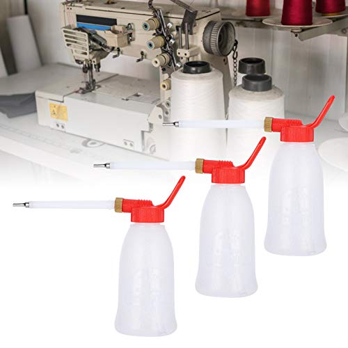 Accesorios y suministros de costura, Resistencia a la abrasión Transparencia para máquina de coser Botella de aceite con boquilla Resistencia al aceite Alta resistencia para máquina de coser