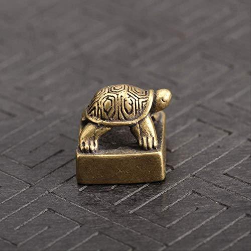 MEELLION Solide Reine Messing kleine schildkröte Dichtung Statue chinesisch feng Shui Lucky Home Dekorationen Ornamente liebenbare Tier Figuren Schreibtisch dekor Love of a Lifetime