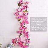 1pcs 5.8ft Artificial Kirschblüten-Blumen-reben Hängende Silk Blumen-Girlande Für Hochzeit Home Decoration Rose Red