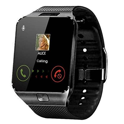 HJYBYJ Hombres Smart Watch Men For Women Clock Android Bluetooth Reloj con Música Música Sim T Tarjeta Smart Watch (Color : Black)