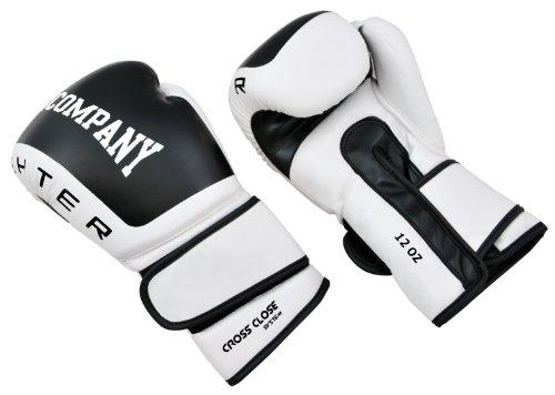 Profi Fighter PU Boxhandschuhe - Klassische Boxhandschuhe schwarz/weiß, 16 Unzen  (OZ)
