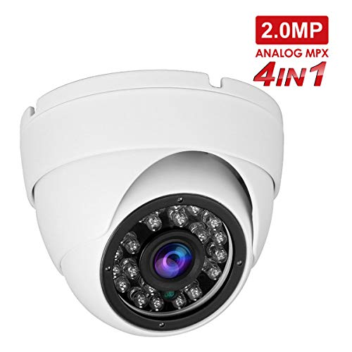Anpviz cámaras en Domo 1080P HD TVI/CVI/AHD /4 in 1,cámara de CCTV,camaras de vigilancia, IP66 Waterproof Day/Night Vision Security Camera (Modo TVI predeterminado 1080P)
