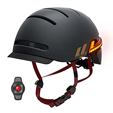 LIVALL BH51M Anniversary Limited Smart Bike helmet with speakers,Connects via Bluetooth for music&calls,Auto sensor LED Tail Lights turn signal remote,SOS Alert,Up to12hrs Work,Certified&Comfortable