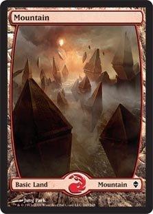 Magic The Gathering - Mountain - Full Art (243) - Zendikar
