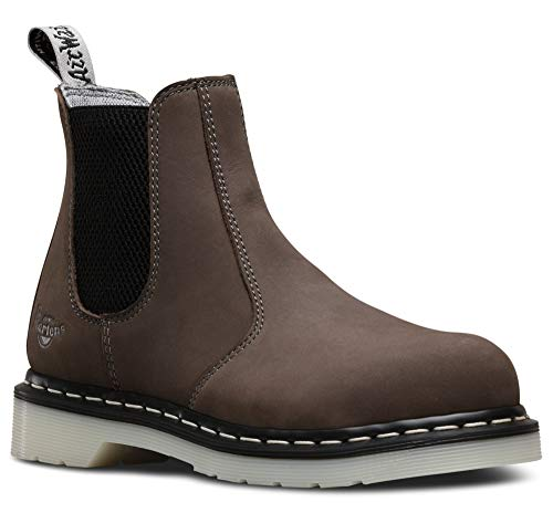 Dr. Martens Work Arbor Steel Toe Chelsea Boot Grey UK 6 (US Women's 8)