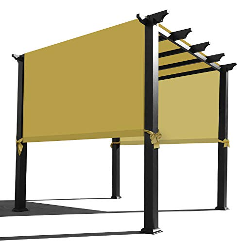 Alion Home Waterproof Pergola Covers - Pergola Replacement Canopy - Universal Replacement Canopy for Pergola (16' L x 9' W, Sand)