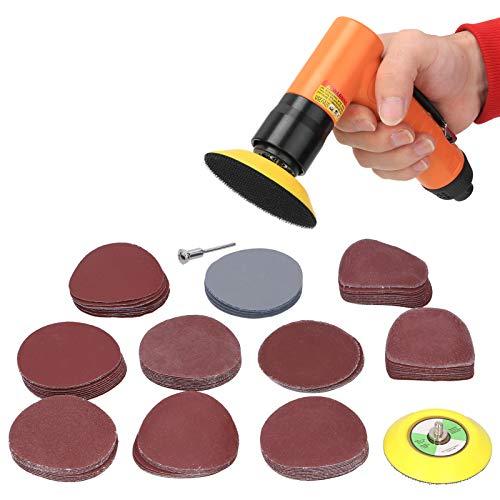 Accesorios para lijadora eléctrica Les-Theresa 102Pcs Discos de rosca M6 + Varilla de extensión redonda + Papel de lija de 3 pulgadas