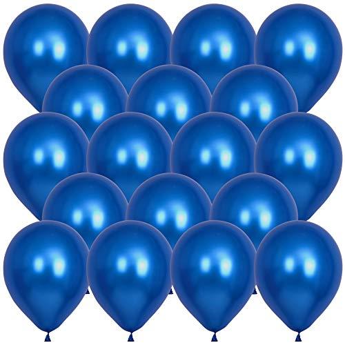 50 개 금속 크롬 블루 풍선-12 인치 프리미엄 헬륨 풍선을 위한 테마의 생일 파티 아기 샤워실 결혼기념일 크리스마스 장식(CHROME 블루)