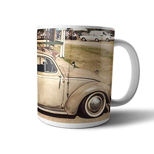creativgravur® Tasse mit VW Käfer im Retro Look, Motivvariante:Motiv 1