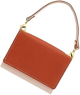 極小財布 ゴートスキンバイカラー ハンドル付き BECKER(ベッカー)日本製 ミニ財布/三つ折り財布